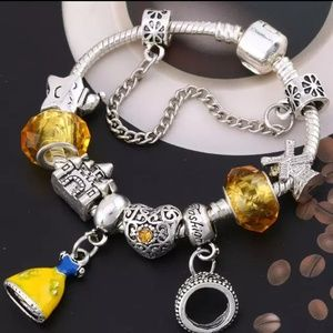 Disney Jewelry - .925 Princess Snow White Charm bracelet